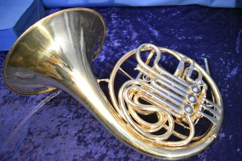 Vintage Conn 6D Copy made in Europe by La Monte -- Double French Horn w/Case,Mpc