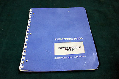Tektronix Tm 504 Instruction Manual
