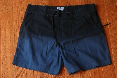 Pennystock Slim Navy Blue Ombre Swim Shorts Size 28 (Slim Swim Shorts)
