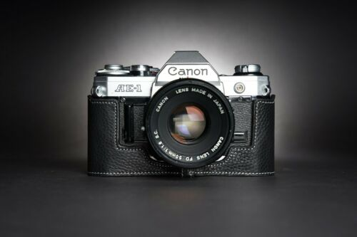 Real Leather Half Camera Case Bag Cover for Canon AE-1 AE-1P A-1 Film Camera