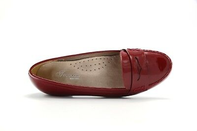 NEW WOMENS TRIVICA SLIP ON LEATHER BURGUNDY RED PATENT PENNY LOAFER SHOES 349 ()