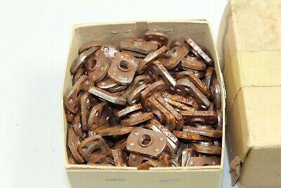 200 New Old Stock 516-18 Steel Tab Base Weld Web Nut Lot