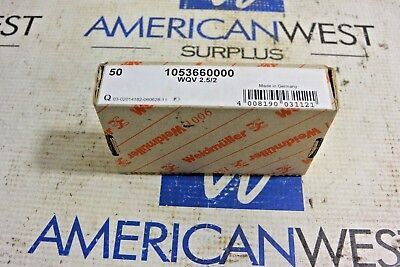 Weidmuller 1053660000 Wqv 2.52 2 Pole Terminal Block Jumpers New Box Of 50
