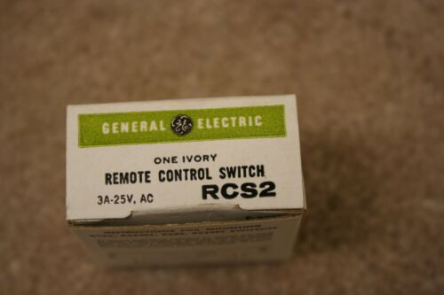 NEW General Electric RCS2 Low Voltage Remote Control Switch Ivory.    ITEM 280