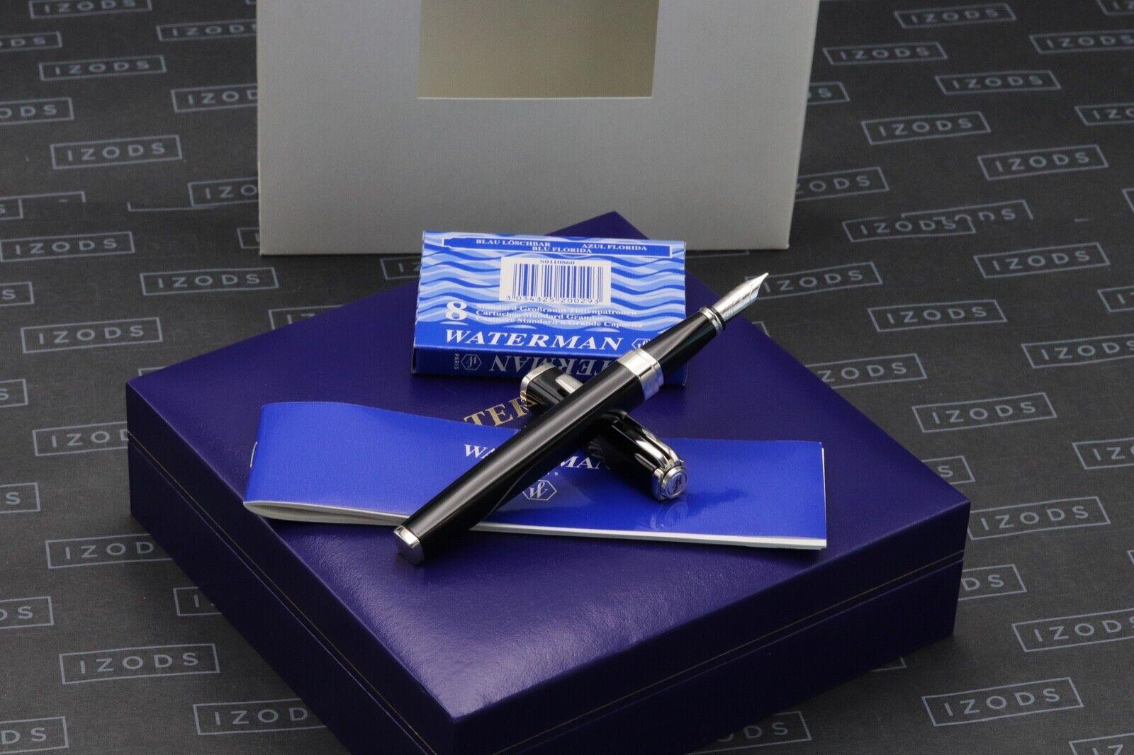 Waterman Exception Slim Black Lacquer Fountain Pen - UNUSED
