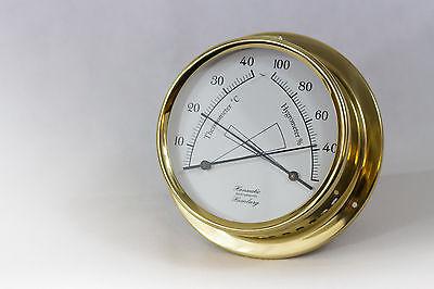HANSEATIC Hamburg Thermometer Hygrometer Schiff maritim Messing 125mm 125 mm NEU