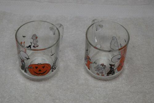Vintage Set Of 2 Luminarc Halloween Mugs, France