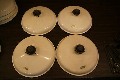 4 ANTIQUE HANGING LIGHT FIXTURES, OVER THE TABLE, EATING AREA, SHOP, GREENHOUSE