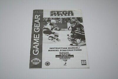 Sega Sports NHL All-Star Sega Game Gear manual only shipping from Canada