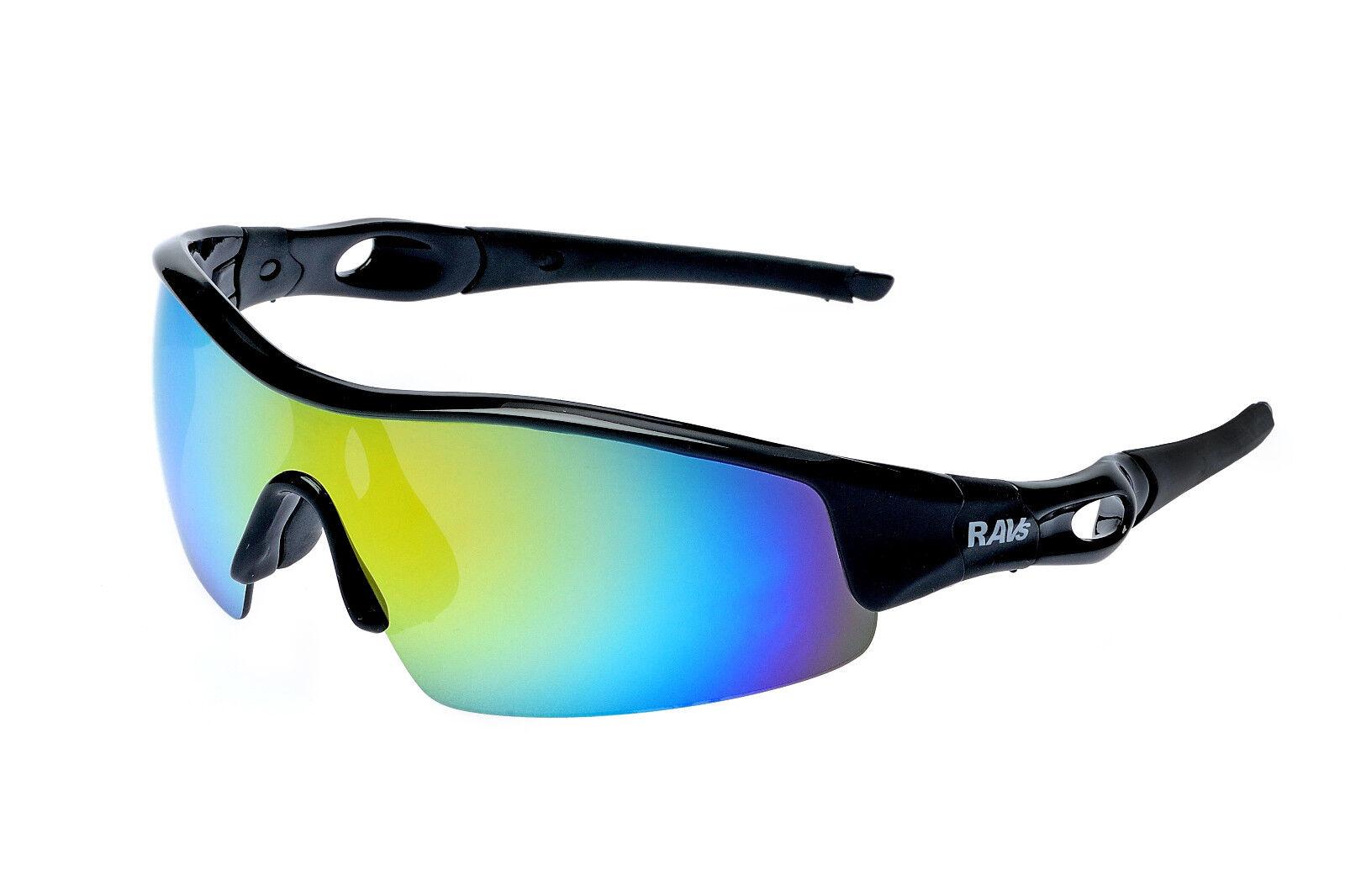 RAVS  Unisex Sportbrille Sonnenbrille  für Joggen,  Laufen, Triathlon, Radsport