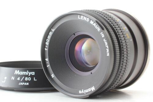 [EXC+3] Mamiya N 80mm F/4 L Lens w/ Hood For MAMIYA 7 7II From JAPAN #235