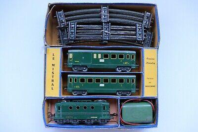 Coffret train Le Mistral Hornby 0B-BV échelle O 0
