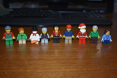LEGO MiniFigure Lot Holiday Christmas 10229 Santa Claus 10245 Village Cottage