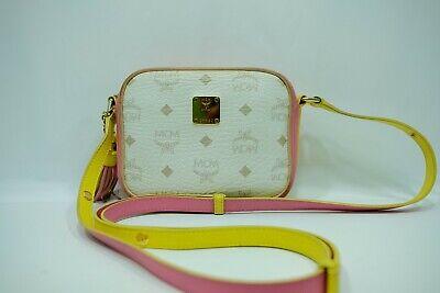 100% Authentic MCM White Mini Crossbody Shoulder Bag Colorful