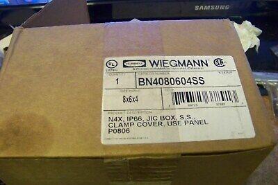 Hubbell Wiegmann Bn4080604ss 8 X6x4 Ss Enclosure