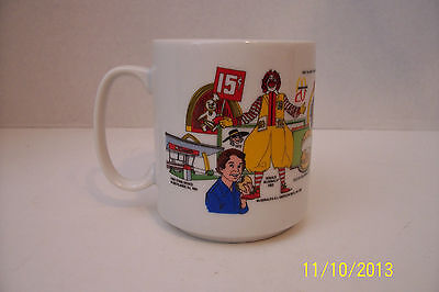 Large McDonalds trivia fun facts coffee cup hard to find vintage cup.