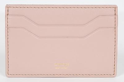 Tom Ford New Beige Smooth 100  Calf Leather Id Credit Card Holder Made In Italy