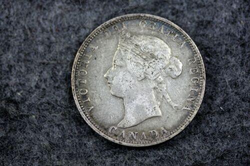 1882 - H 25 Cents Canada Queen Victoria Silver Coin!  #J06644