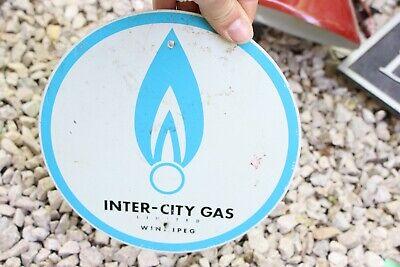 Vintage Inner City Gas Winnipeg Manitoba Canada Tin Metal Sign Metal -M20
