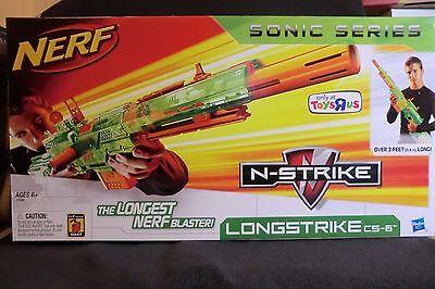 Nerf N Strike Longstrike Cs 6 Blaster Toysrus Exclusive Sonic Series Rare New