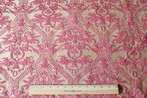 "French Antique 19thC Silk Red Frame Home Fabric~L-46""X W-29"""