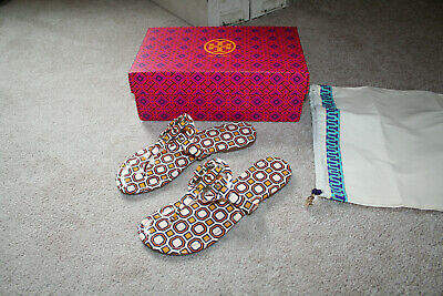 Tory Burch Miller Printed Patent Leather Size 8 Color Ballet Pink Octagon Square