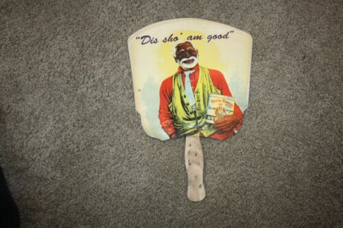 Vintage Advertising Hand Fan Uncle Remus Syrup unique hand fan