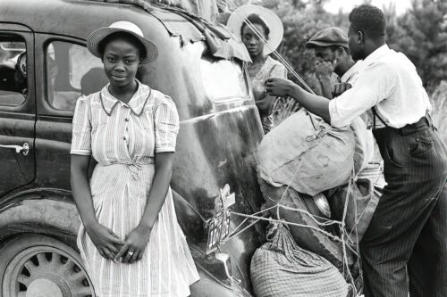 1920 African American Family from Florida Loading Their Car For Trip-8x12 PHOTO