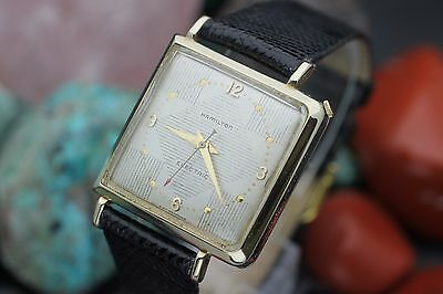 """Vintage HAMILTON Electric Cal. 500 """"VICTOR"""" 10K Gold Filled Asymmetric Watch"""