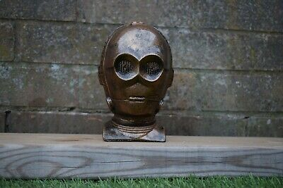 Star Wars C3-PO Reconstituted Stone Garden Ornament Bronze  -Free UK P&P