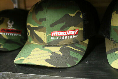 New 2019 MIDWEST ARCHERY Hat Cap Adjustable Snapback RICHARDSON 112 DEER Camo