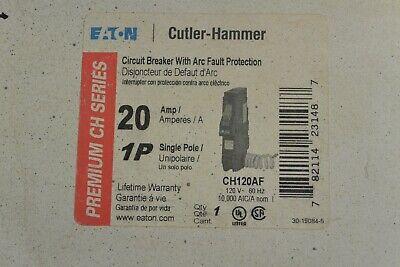 Ch120af Cutler Hammer 1 Pole 20 Amp 120v Arc Fault Circuit Breaker New