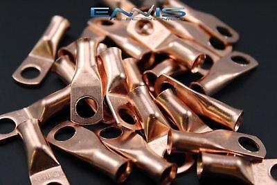6 Gauge Copper 14 Ring 10 Pk Crimp Terminal Connector Awg Ga Car Eye Cur614