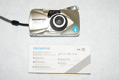 Olympus mju ii Zoom 115 35mm Point & Shoot Film Camera with manual