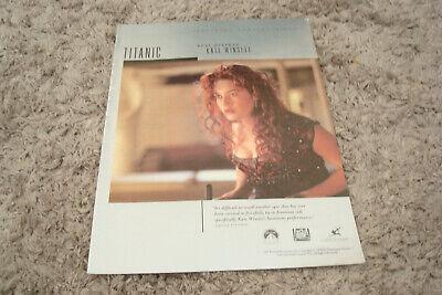 TITANIC 1997 Oscar ad Kate Winslet as Rose DeWitt Bukater for Best