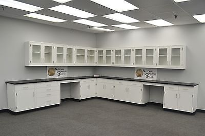 Used, Laboratory 24' Wall 29' Base Cabinets Furniture Case Work - Fast Shipping-E1-190 for sale  Rockford