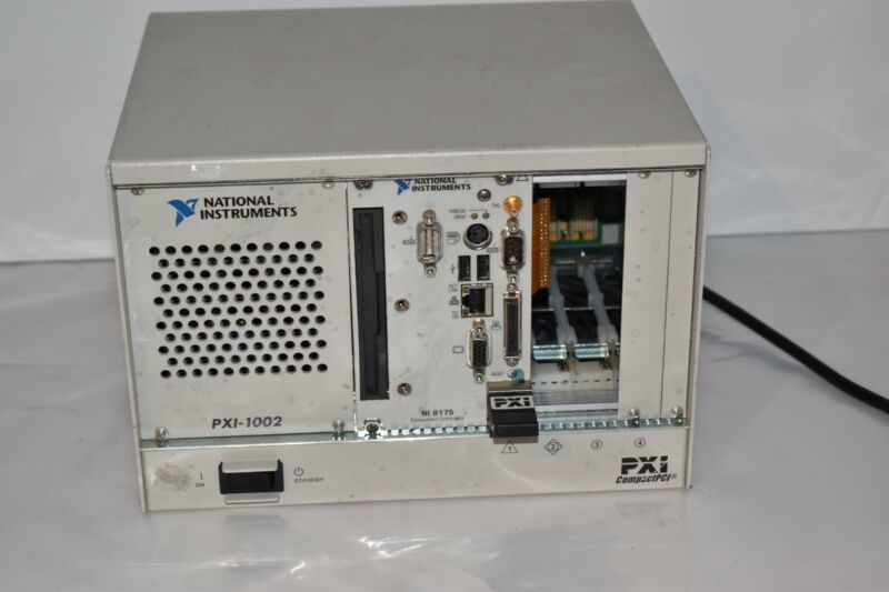 ^^ National Instruments PXI-1002 Compact PCI with NI PXI-8175  (AY52)