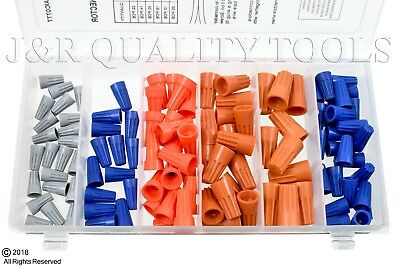 107pc Electrical Wire Twist Connector Cap W Spring Insert Assortment
