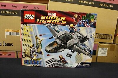 NEW Sealed Box! LEGO 6869 Super Heroes Quinjet Aerial Battle FREE Priority Mail!