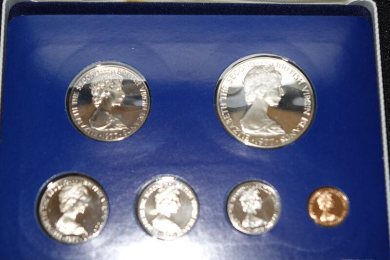 1977 British Virgin Islands Proof Set w/ Silver Dollar - D&B Coin