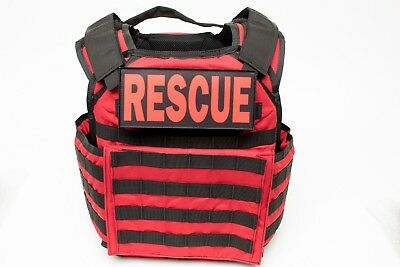 RESCUE TASK FORCE VEST-Active Shooter Response (ASR) Vest! (RED) ARMOR INCLUDED