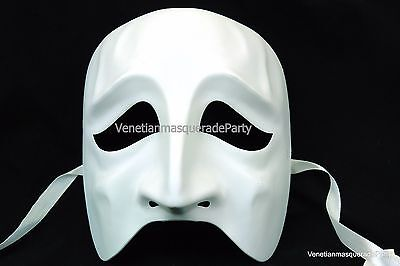 Unpainted White Skeleton Masquerade Mask DIY Base Sad Face Costume Prom  Party - Diy Skeleton Costume