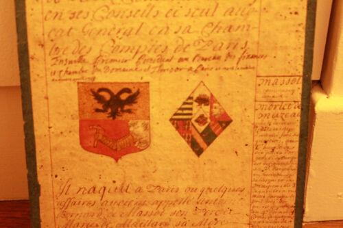 c1700 medieval genealogy manuscript ab 1429 king advisor familly coat of arms #1