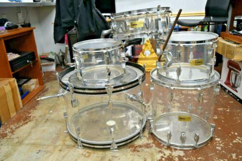Vintage Fibes 5 piece drum kit - Crystallite Acrylic