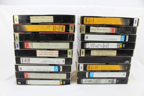 Lot of 18 Random Used Prerecorded VHS Videotapes w/Movies and Others See Desc
