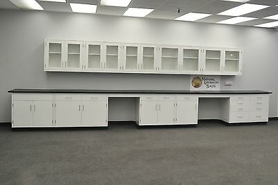 22 Base 17 Wall White Furniture Cabinets Case Work In Stock -e1-068