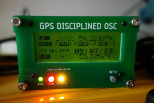 # GPSDO 10MHz GPS Disciplined Clock with Antenna&Display Sinewave or Squarewave