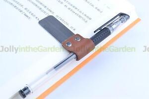 2x-Pen-Loop-Black-Traveler-Notebook-Leather-Pen-Holder-Note-Clip-Loop-Universal