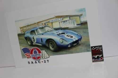 Carroll Shelby Cobra Daytona Coupe Racing Car SAAC 27 Poster Ford Vintage SCCA