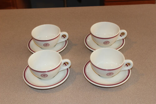4 Vintage US ARMY Medical Corps Department Cup & Saucer Sets Walker China Co.